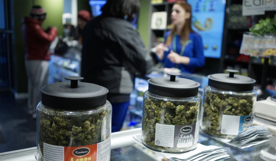 Image of the Grass Station marijuana shop in Denver