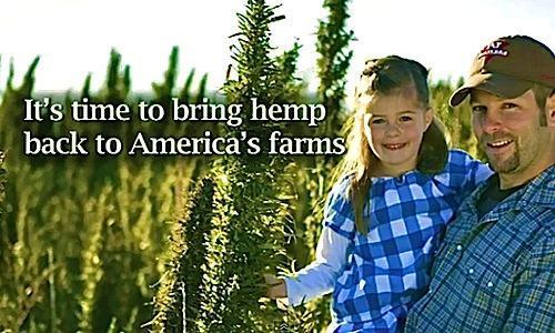 Image of farmer a small girl wanting to grow hemp