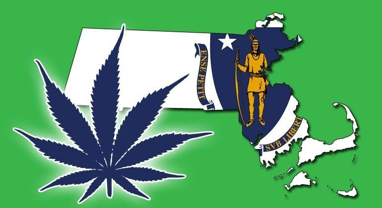 Image of Massachusetts marijuana legalization logo