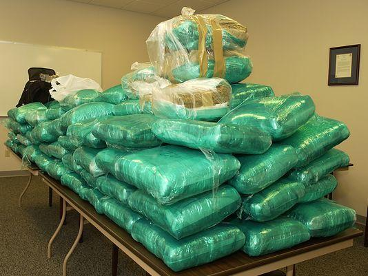 Image of 625 pounds of confiscated in North Carolina