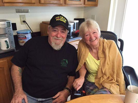Bob and Cathy Jordan say her ALS is relieved by medical marijuana, and are supporters of legalizing it in Florida. Photo: WTSP