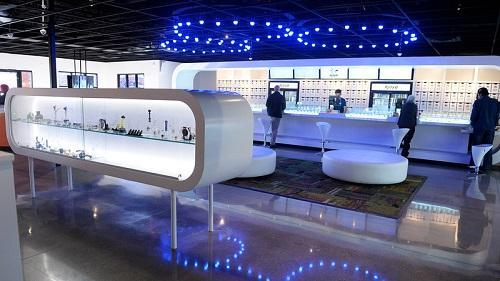 Ajoya is a new marijuana dispensary in Louisville, CO. Its interior space offers a new retail experience for customers. Image: Cyrus McCrimmon, The Denver Post