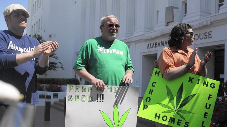 Image of Alabama Medical Marijuana activists