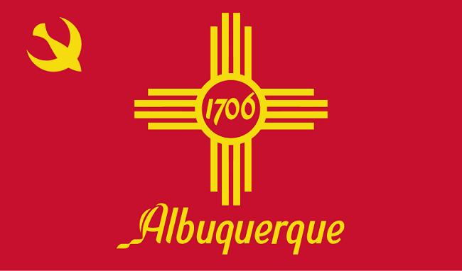 Albuquerque NM city flag. Image via Wikimedia Commons