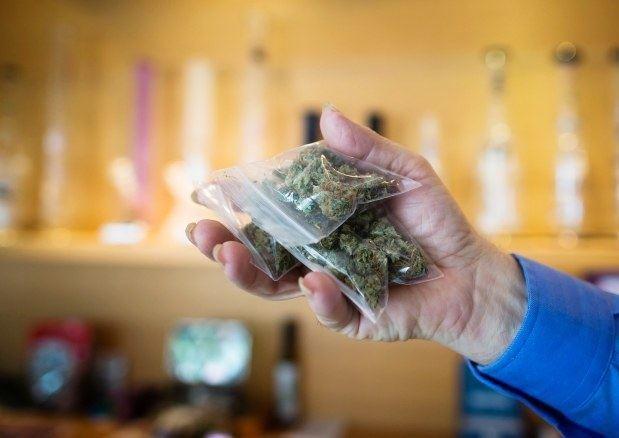 Image of bagged legal medical marijuana