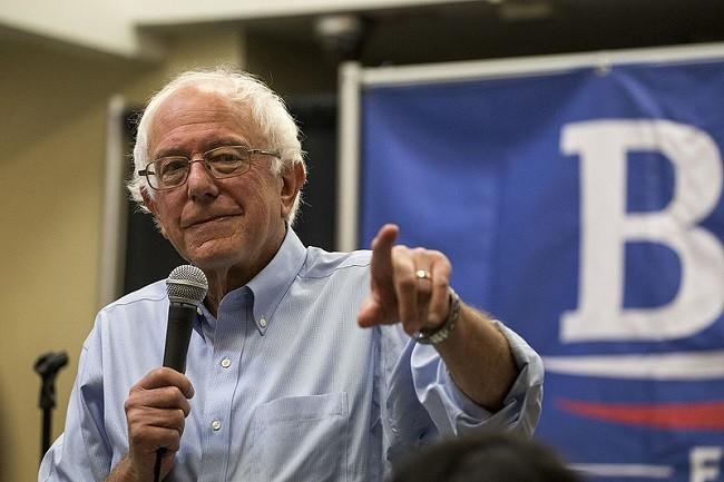 Sen. Bernie Sanders campaigning in September 2015. Image: Phil Roeder via Wikimedia Commons