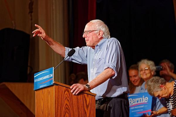 Bernie Sanders in Littleton N.H. on August 24th, 2015. Image: Michael Vadon via Wikimedia Commons