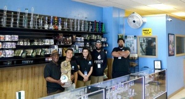 Co-owners of the recreational marijuana store, Bud Nation, strive to maintain a diverse set of employees in an industry that is predominantly white. Image: Courtesy Bud Nation.