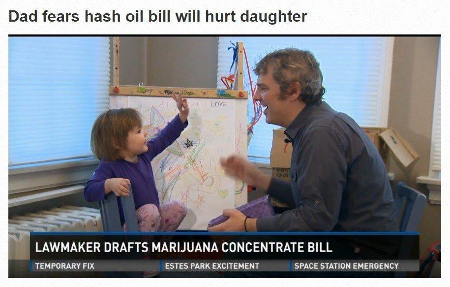 Image of little girl and Dad that cannabis oil has helped