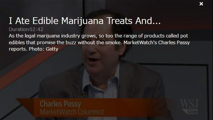 WSJ Video with Charles Passy about edible marijuana products