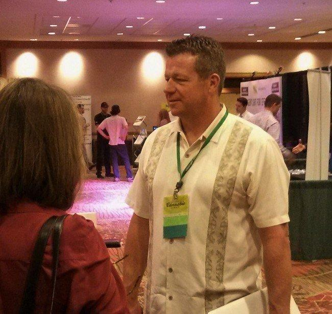 Christian Hageseth at the National Cannabis Summit in Denver. Image: WeedWorthy.com