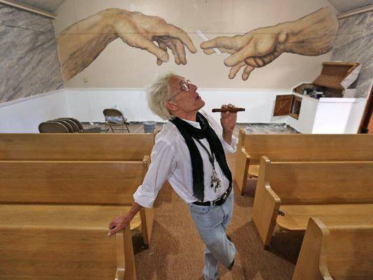 Bill Levin poses in the sanctuary at The First Church of Cannabis. (Photo: Kelly Wilkinson/The Star file photo)