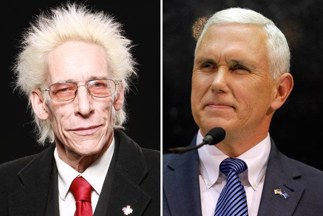 Indiana's religious freedom law, signed by GOP Gov. Mike Pence, right, has effectively legalized marijuana for members of the First Church of Cannabis, says church founder Bill Levin, left.