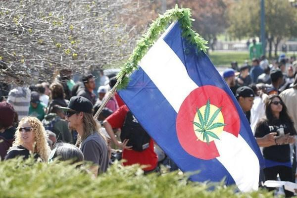 Image of 420 marijuana celebration in Denver