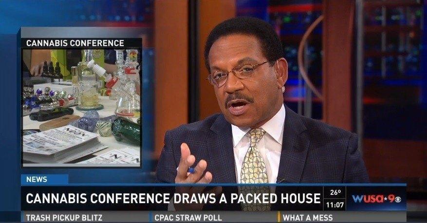 Image of TV coverage of marijuana legalization in Washington DC 3-1-2015