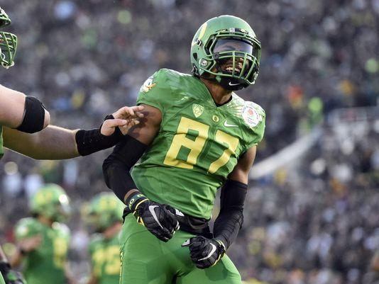 Image of Oregon Ducks wide receiver Darren Carrington