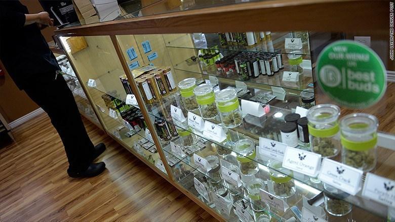 Image of a recreational marijuana store in Denver Colorado