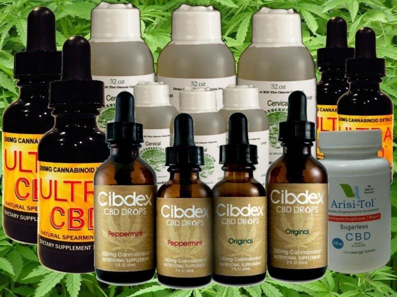 Image of hemp oil products told by FDA to stop making medical promises