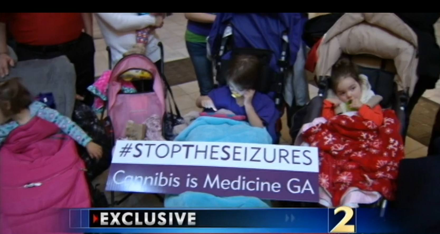 Image of sick kids in Georgia that will be able to legally get medical cannabis when cards are issued