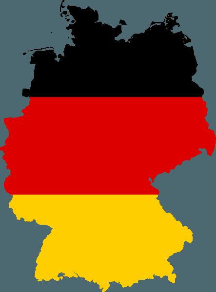 Germany flag map. Image: David Liuzzo via Wikimedia Commons