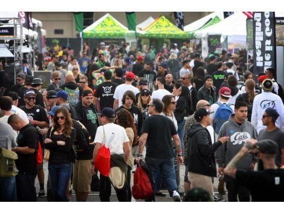 Image of crowd at the Cannabis Cup in Southern California 2015