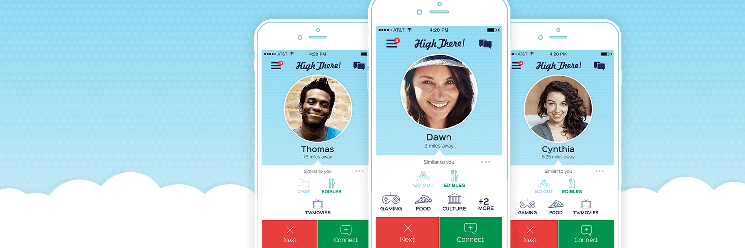 Images of the High There marijuana social app