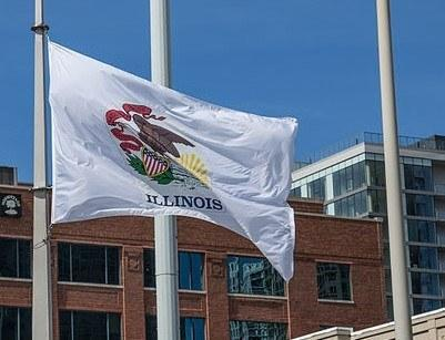 Illinois state flag. Image: Tony Webster via Wikimedia Commons