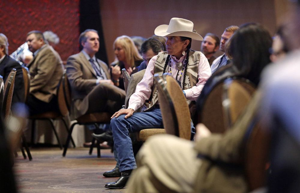 Image of Native Americans meeting in Washington about legalized marijuana on reservations