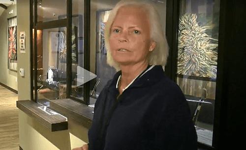 Brenda Gunsallus, co-owner of Sahara Wellness in Las Vegas.  Video Image: KTNV.com