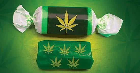 Marijuana-infused candy. Image via Phoenix New Times