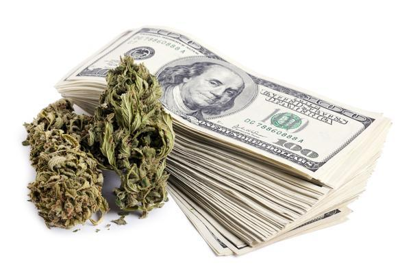Image of cash & marijuana, related to cannabis business banking