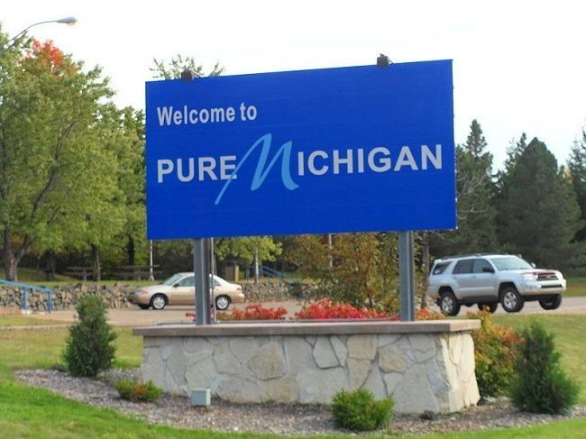 Michigan State entrance sign. Image via Wikimedia Commons