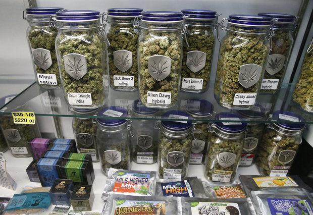 Image of legal marijuana products in Denver Colorado