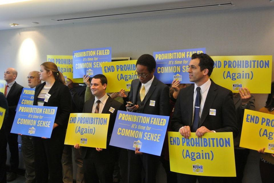 Image of NJ marijuana legalization activists
