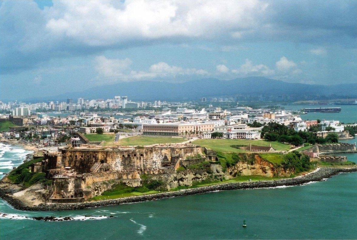Image of Old San Juan Puerto Rico, soon to become a medical marijuana destination after legalization.