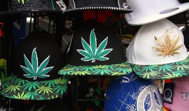 Vendors selling cannabis-related apparel are doing good business at the Oregon State Fair. Image: Jamie Hale/Oregon Live