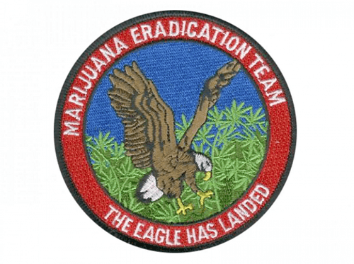 Marijuana eradication program patch.  Image: Fred Repp via Washington Post