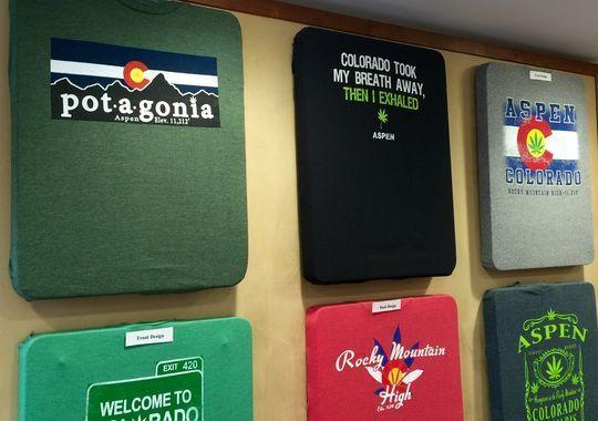 Image of marijuana related marijuana shirts in Denver