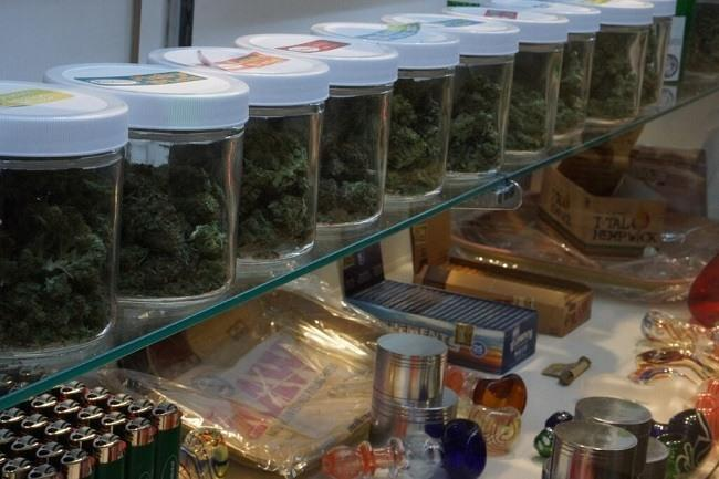 Products on display at The Grass Station dispensary in Denver. Image: WeedWorthy.com