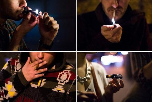 Public pot smokers at different locations in NYC. Image: Hilary Swift for The New York Times