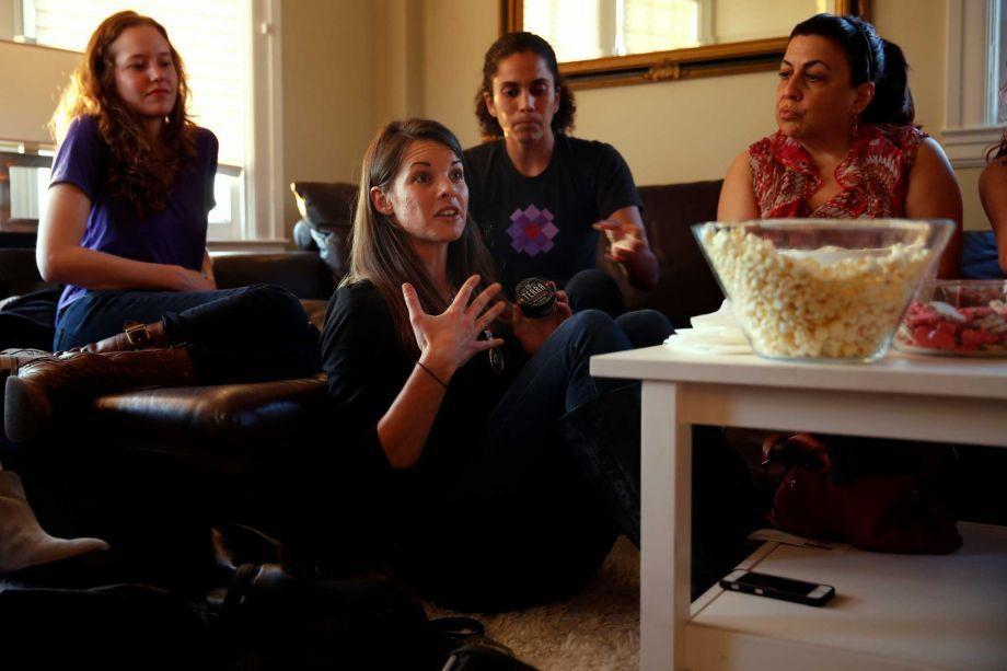 Image of Rachel McKrill at a women's cannabis party