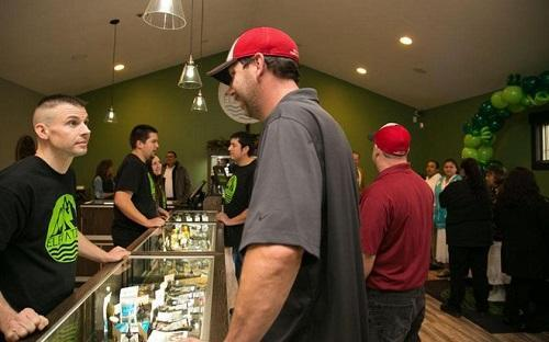 Elevation, a recreational marijuana shop on the Squaxin Island Indian Reservation in Washington, opened in November. Image: Island Enterprises, Inc. via Journal Sentinel