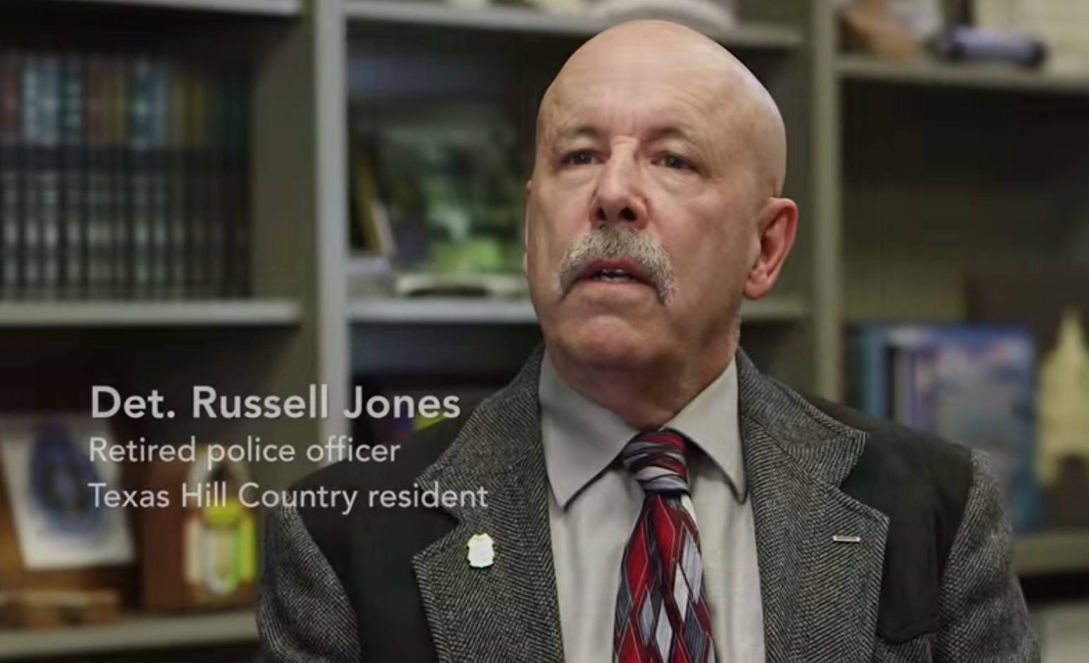 Image of Russel Jones, a retired police officer that supports Responsible Marijuana Policy