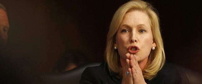 U.S. Sen. Kirsten Gillibrand, (D-NY) speaks at a Senate Armed Services Committee on Capitol Hill in Washington, June 4, 2013. REUTERS/Larry Downing