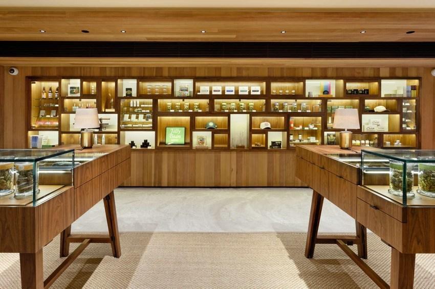 Image of a high end recreational marijuana store in Aspen Colorado