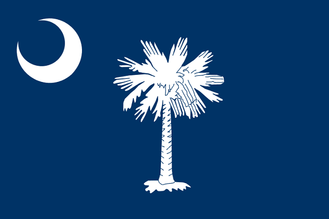 South Carolina state flag via Wikimedia Commons