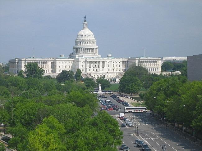 U.S. Capitol as seen from the Newseum. Image: Jorge Gallo via Wikimedia Commons