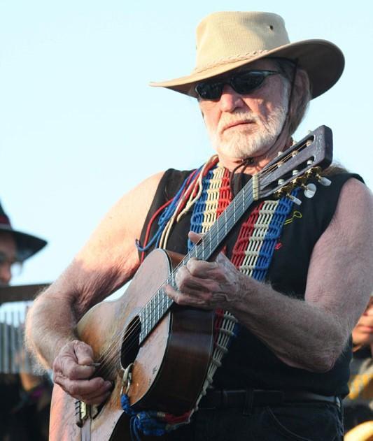 Willie Nelson at Coachella, 2007, Photo: Paul Familetti via Wikimedia Commons