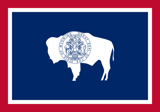 Wyoming State Flag. Image via Wikimedia Commons