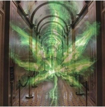 Image of the ghost of marijuana prohibition haunting the halls of Congress